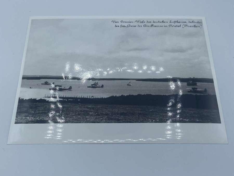 1934 four Lufthansa Dornier Whales In Natal Brazil Official photograph