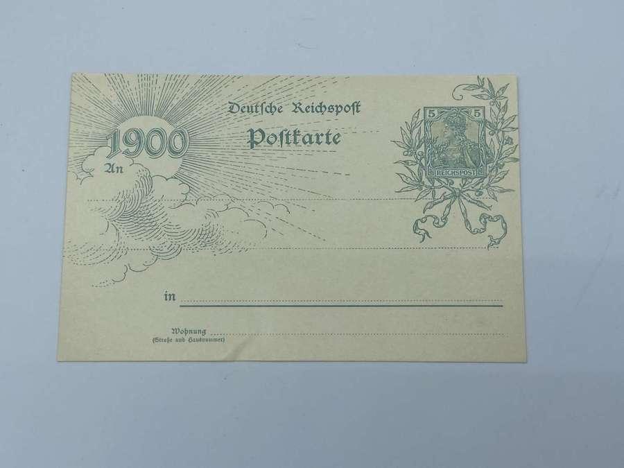Boer War 1899-1902 German Post Card Dated 1900 Unused Reichpost