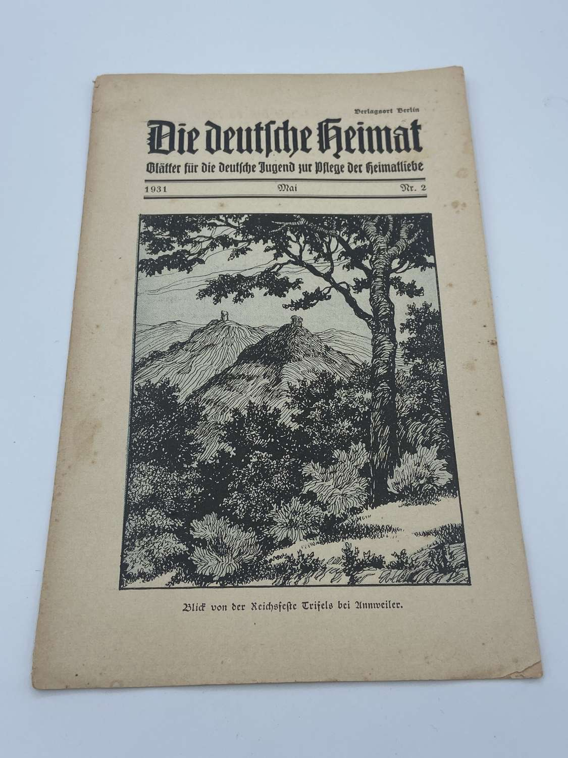 Ww2 1931 Hitler Youth Cultivate Their Homeland Magazine Berlin