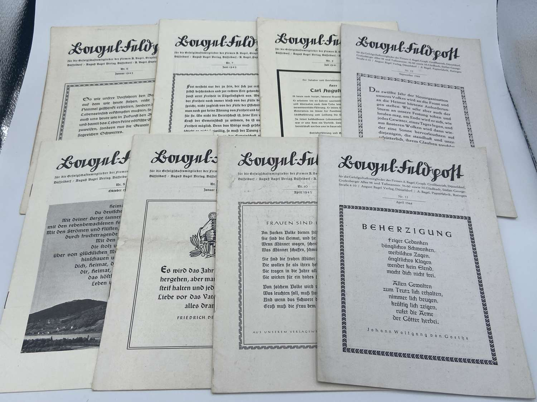 Rare WW2 German Magazines Of Inspiring War Stories & Heroic Deaths X 8