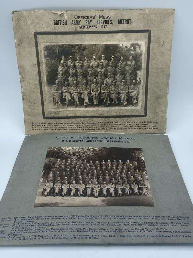 PostWW2 1947 Officer Accounts Branch Army Pay Services photograph