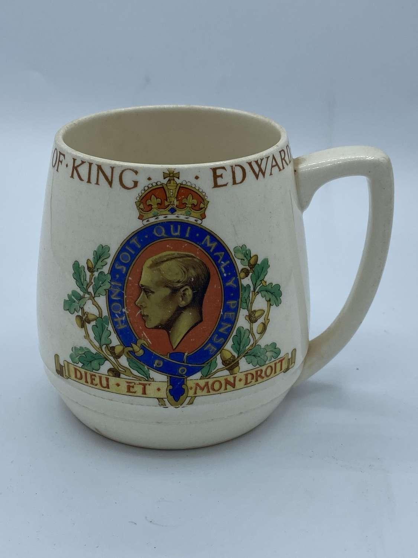 WW2 British May 1937 Coronation Of King Edward VIII Ceramic Cup