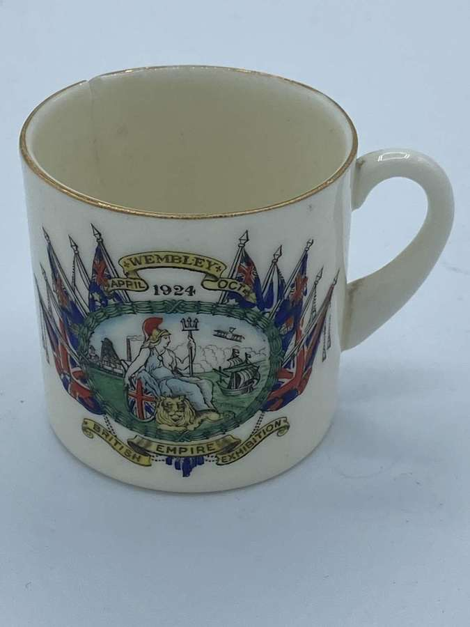 WW1/1924  Wembley British Empire Expeditionby Acardian Mini China cup
