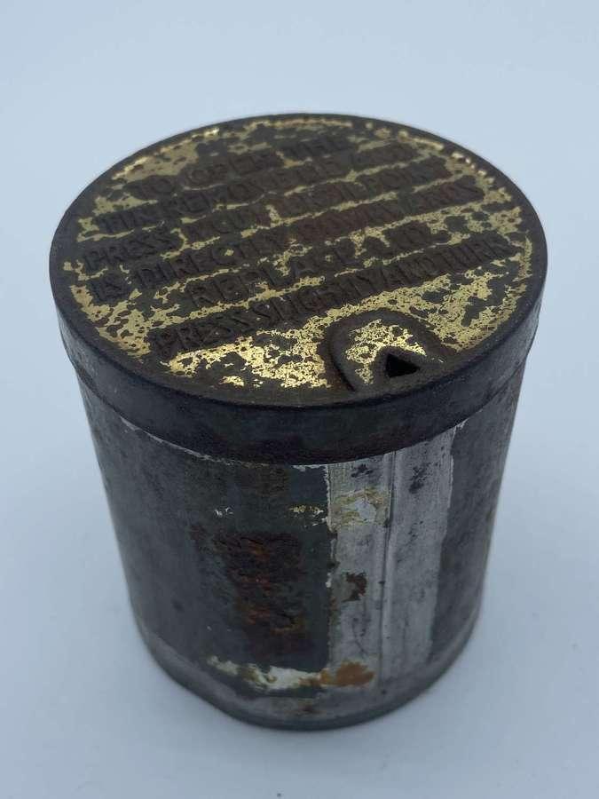 WW2 NAAFI Navy Army & Air Force Circular Empty Cigarette Ration Tin