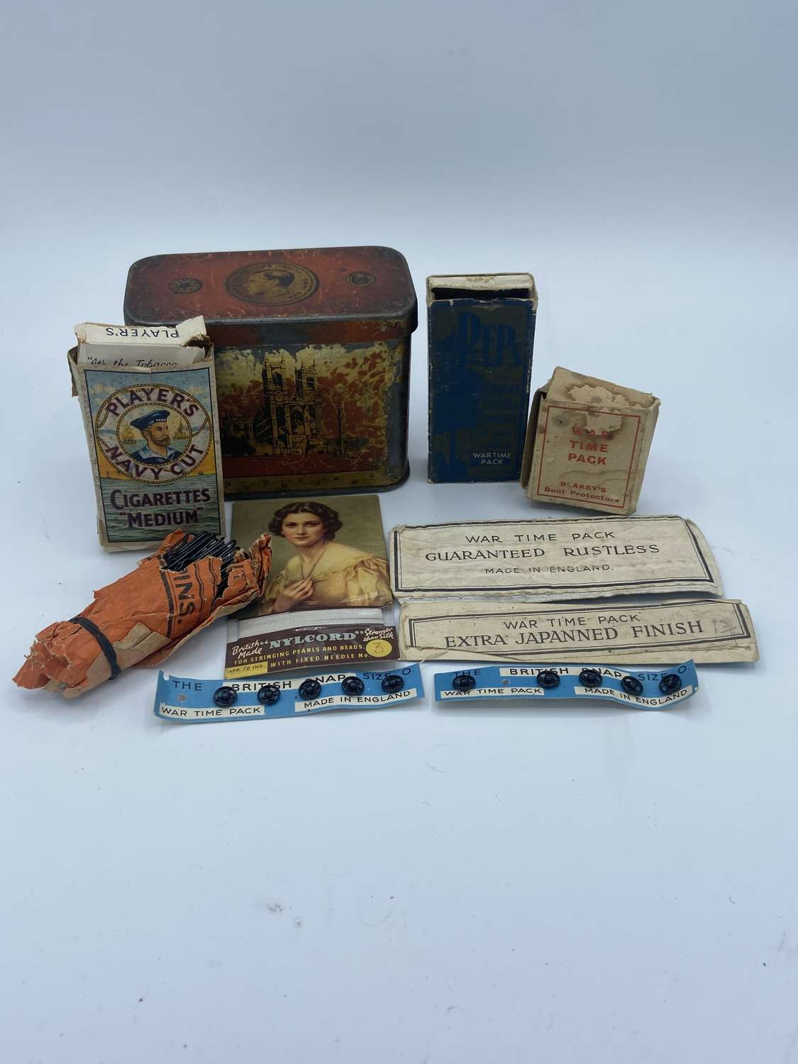 WW2 British Home Front Lot Of All Wartime Pack Items & Product Adverts