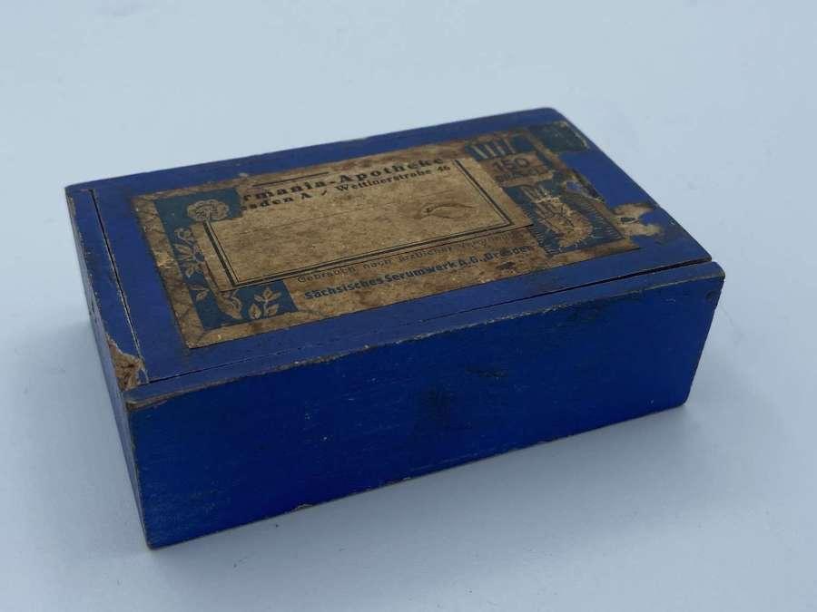 Rare WW1 German Military Dresden Medics Medical Apothecary Wooden Box
