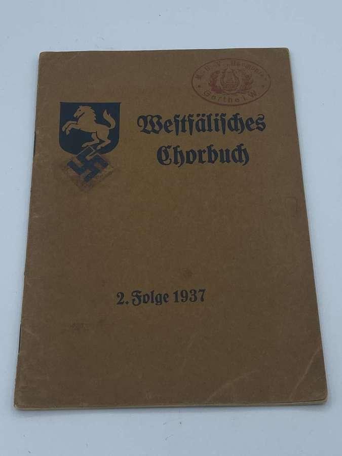 Original Pre WW2 German Elite Infantry Division 1937 Choir Hymn Book