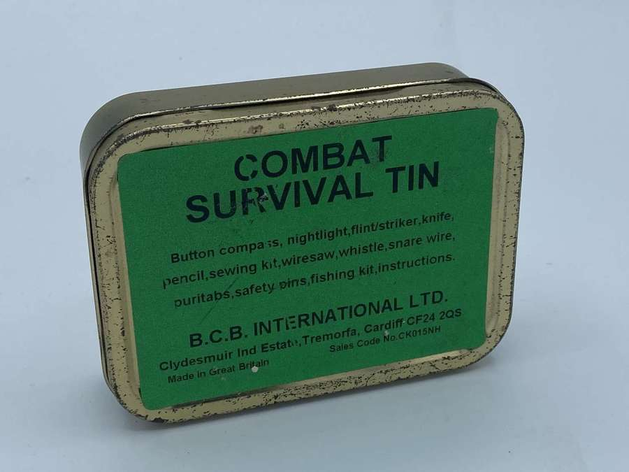Vintage Empty Combat Survival Tin BCB Nato Approved