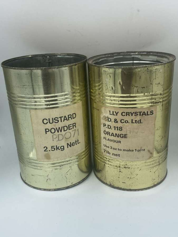 1970s British Army Catering Corps Ireland Custard & jelly Powder 2.5k