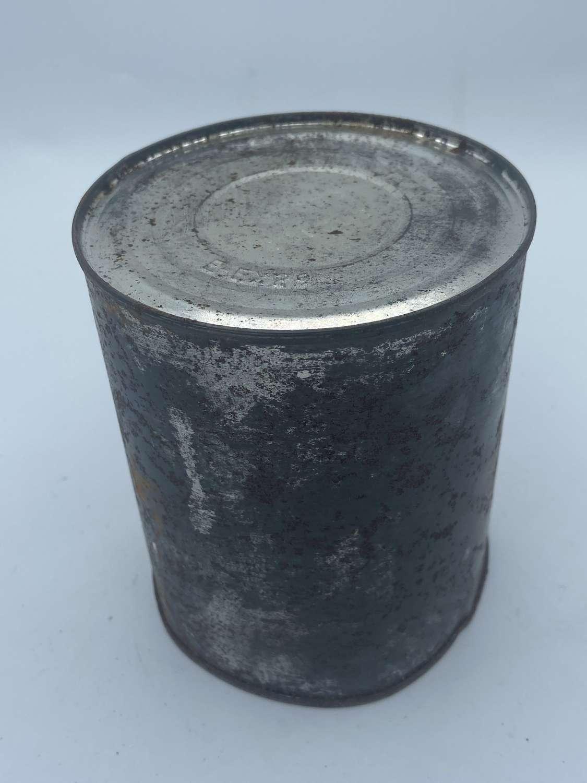 Rare WW2 Australian Army Milk Or Tea Tin Ration Marked On Base