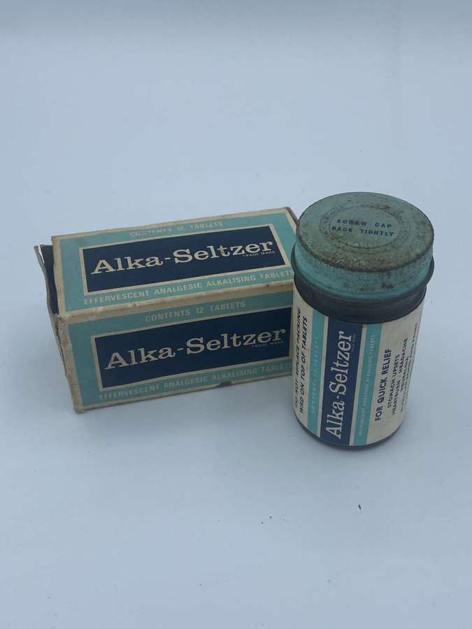 WW2 Era 1930s British Home Front Alka-Seltzer Packaging & Contents