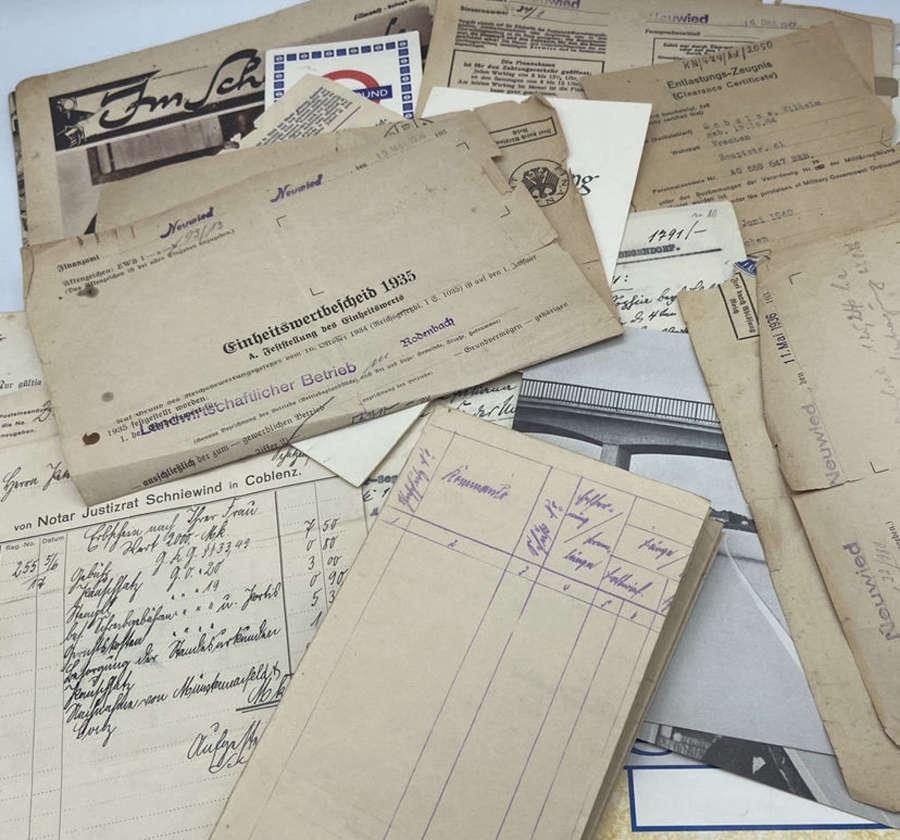 Joblot Of WW1 & WW2 German, Prussian & Austrian Military Paperwork