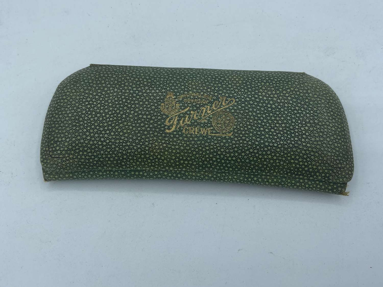 Original Antique Shagreen & Gilt Art Deco Turner Crewe Glasses Case