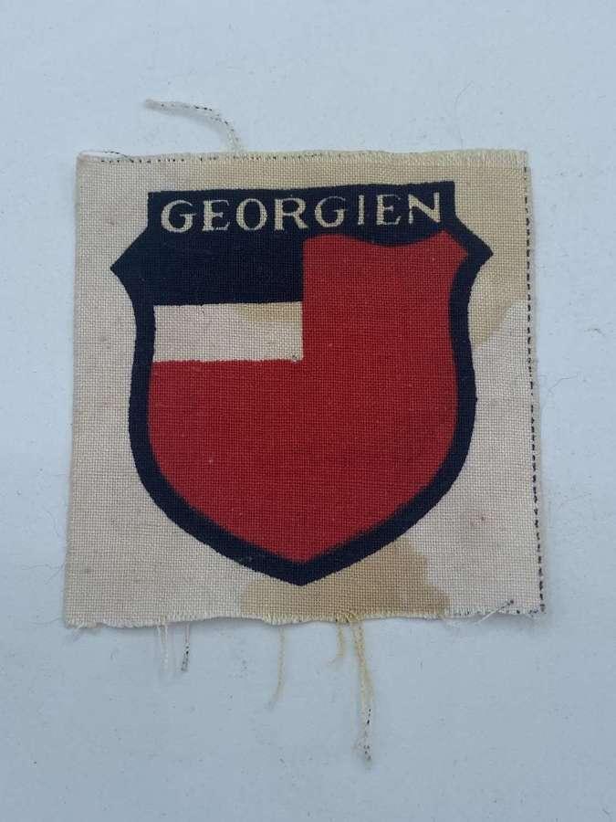 WW2 German 3rd type printed patch of Georgian volunteer in Wehrmacht