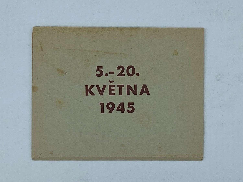 WW2 Czechoslovakian Victory Over Germany Propaganda Leaflet 5 -20/5/45