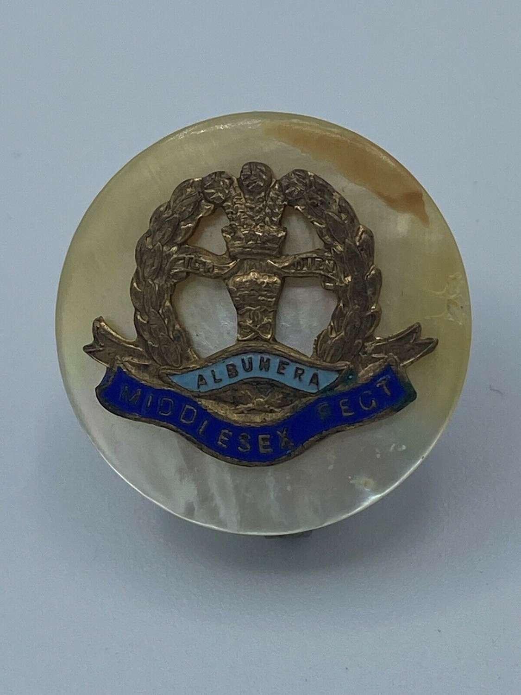 WW1 British Middlesex Regiment Sweetheart Brooch