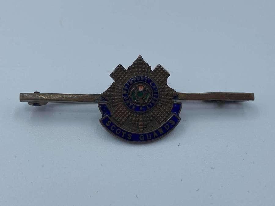 Ww1 Scots Guard Brass Snd Enamel Sweetheart Brooch Badge Tie Pin