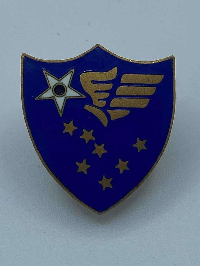 WW2 US Alaskan Airforce Command Enamel Badge By Gemsco NY