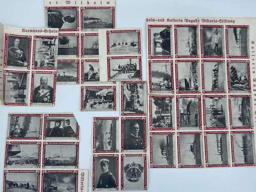 Lot WW1 German Kaisers Kriegsmarine Sailors Charity Welfare Stamps x40