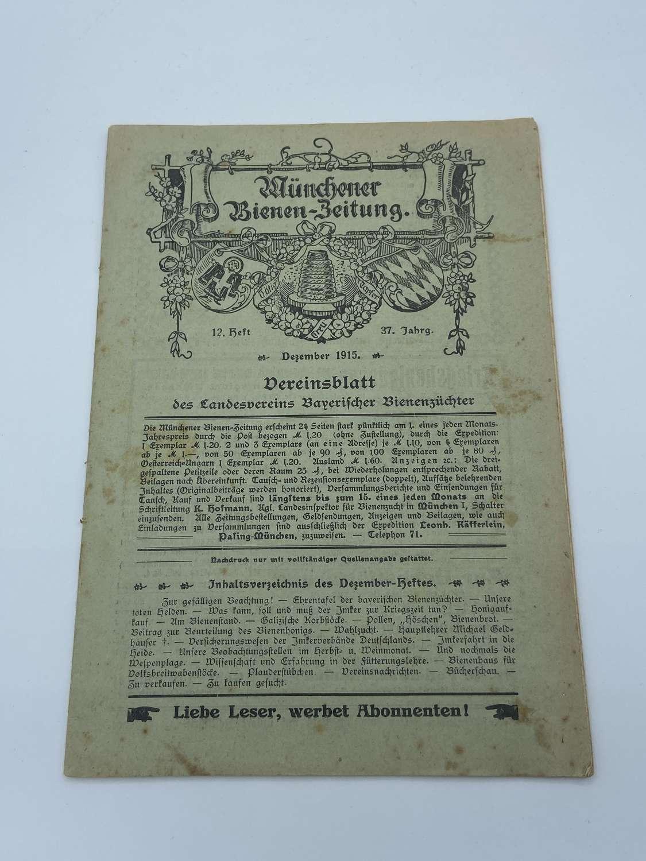 WW1 German Munchener Bienen-Zeitung Dec1915 Magazine War Time Officers