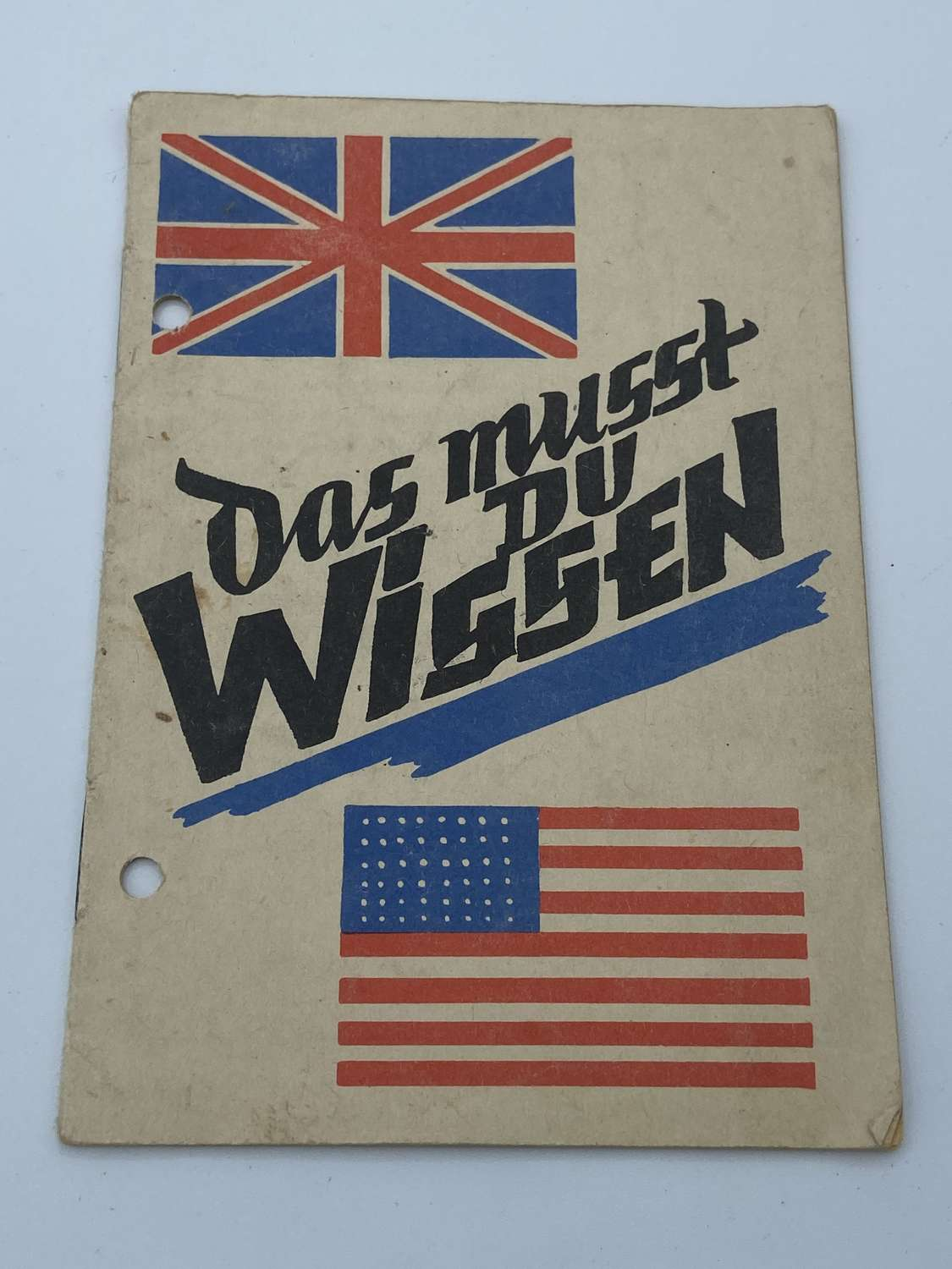 WW2 'You Have To Know That' Guide For German Citizens In Brit+US Z