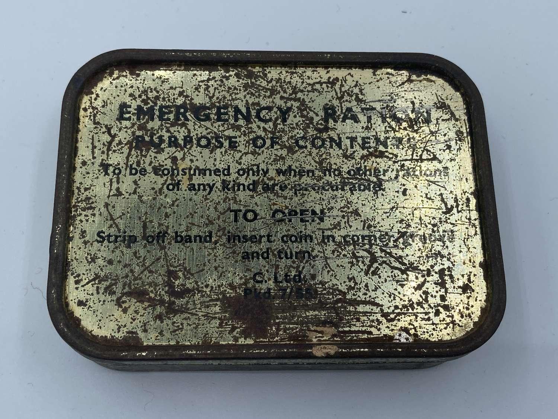 Post WW2 1955 Dated British Army Emergency Ration Tin Cyprus Emergency