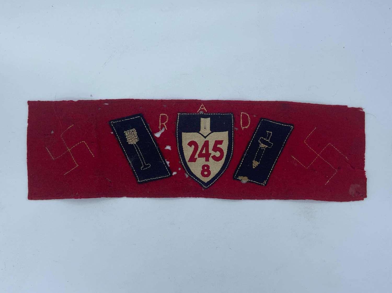 WW2 RAD Reichsarbeitsdienst 8/245 Moselland Officers Armband