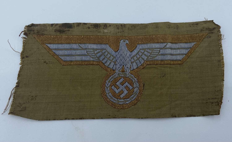 WW2 German Bevo Wehrmacht AfrikaKorps Heers DAK Tropical Breast Eagle