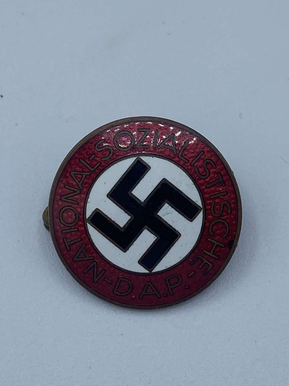 1930s WW2 German NSDAP Rudolf Reiling Pforzheim M1.25 Party Badge