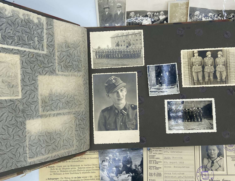 WW2 German Waffen SS & RAD Photograph Album