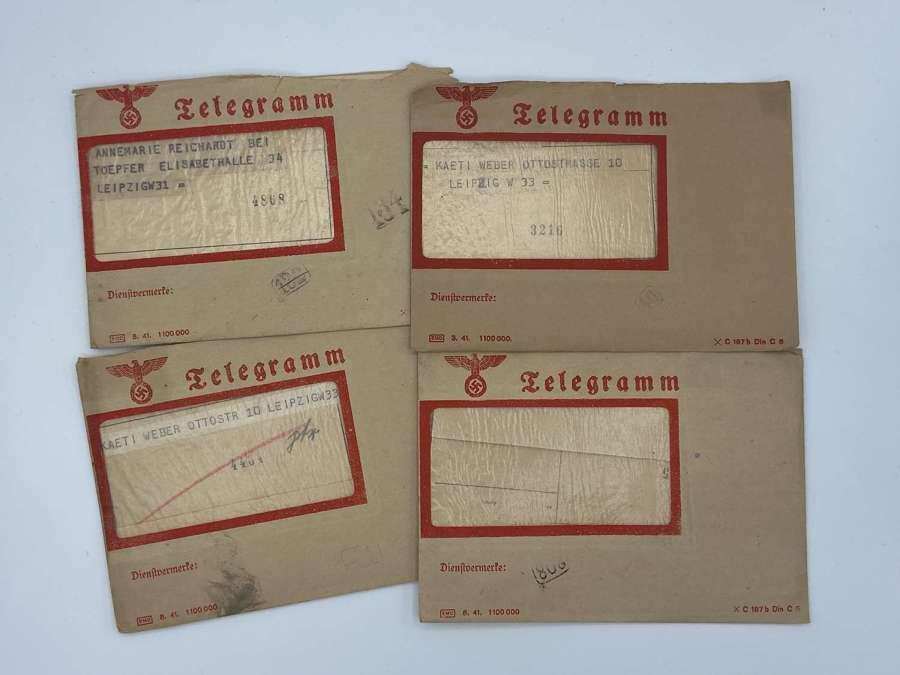 WW2 Deutsche Reichspost Telegram x 4