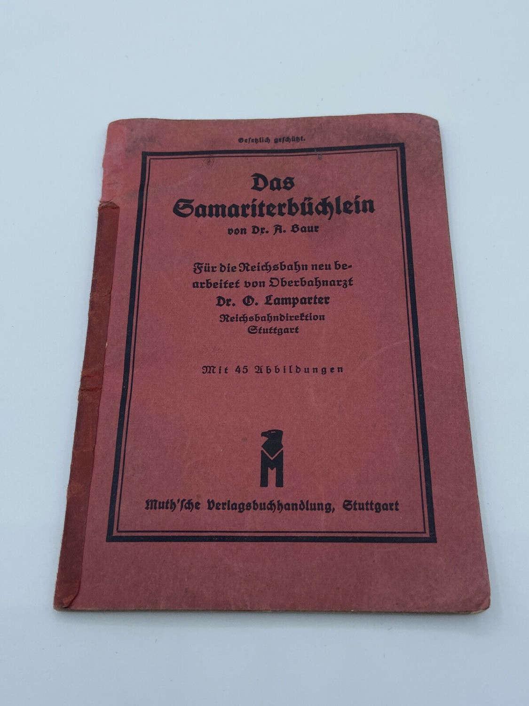 WW2 German Reichbahn Railway First Aid Pocket Book Diagrams Etc