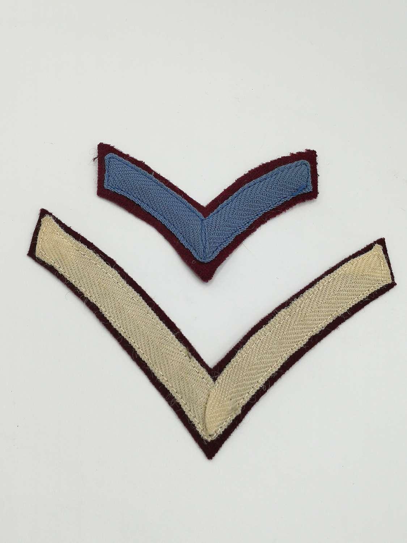 WW2 SAS Paratroopers Chevrons Rank Stripes Arm Patches