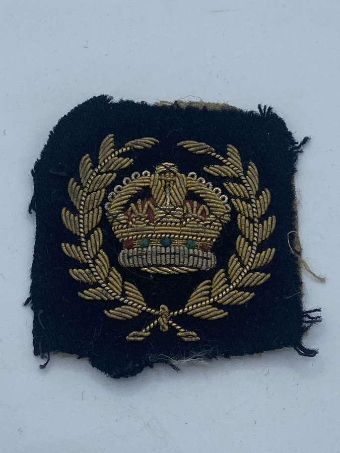 WW1 To WW2 Bullion Kings Crown Warrant Officer Patch