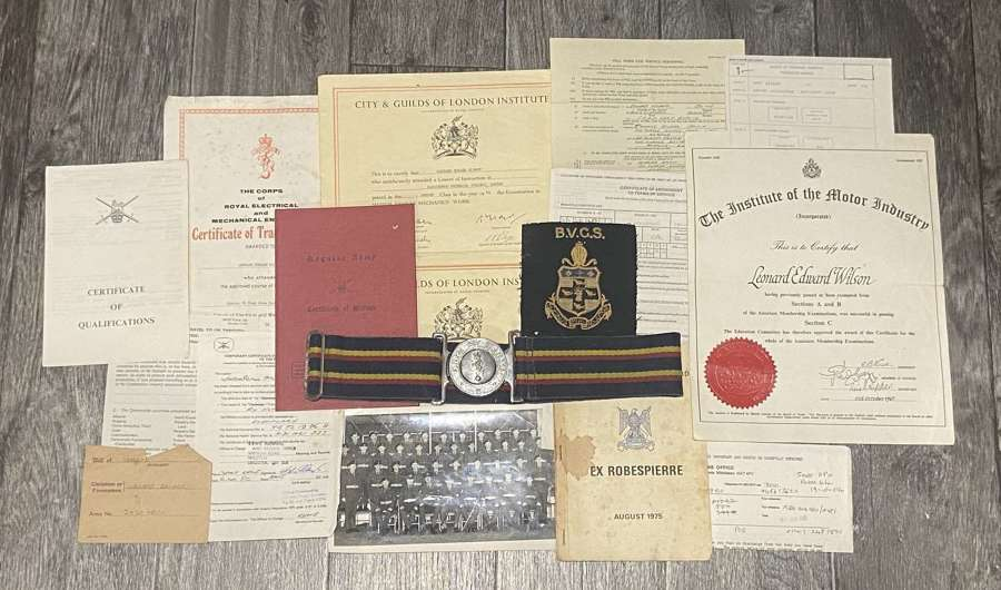 Post WW2 Reme National Service Grouping Awarded N Ireland