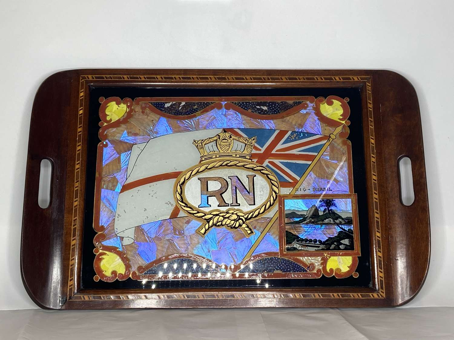 WW2 British Royal Navy Army Raf Officers Butterfly Wing Souvenir Inlay