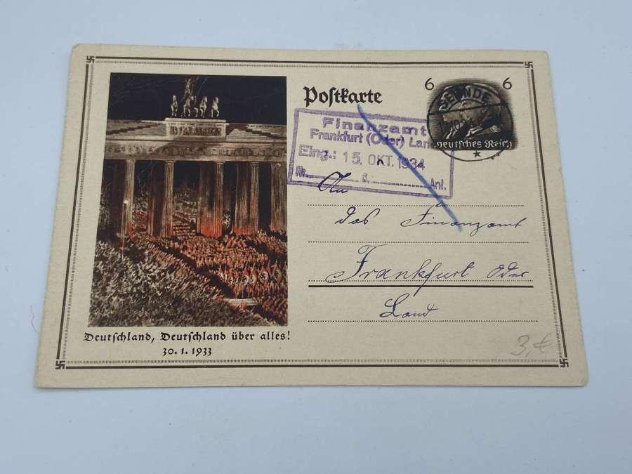 Original 1933 German Commemorative postcard, Germany Above All!