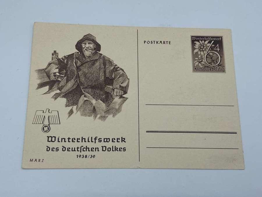 WW2 German WHW des deutschen Volkes 1939 March Postcard