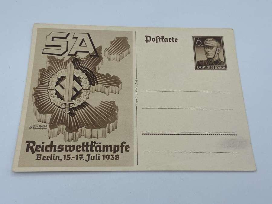 WW2 German SA Reichsberufswettkampf National TradeCompetition Postcard