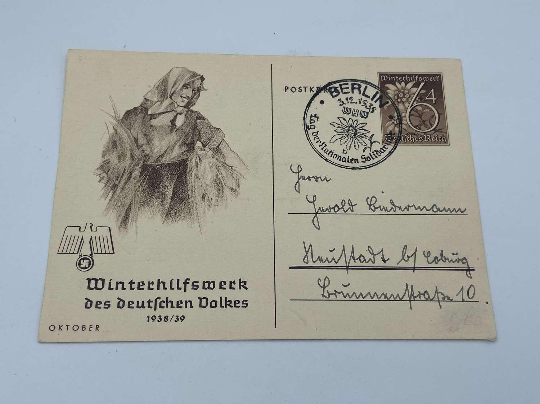 WW2 German WHW des deutschen Volkes 1939 October Postcard