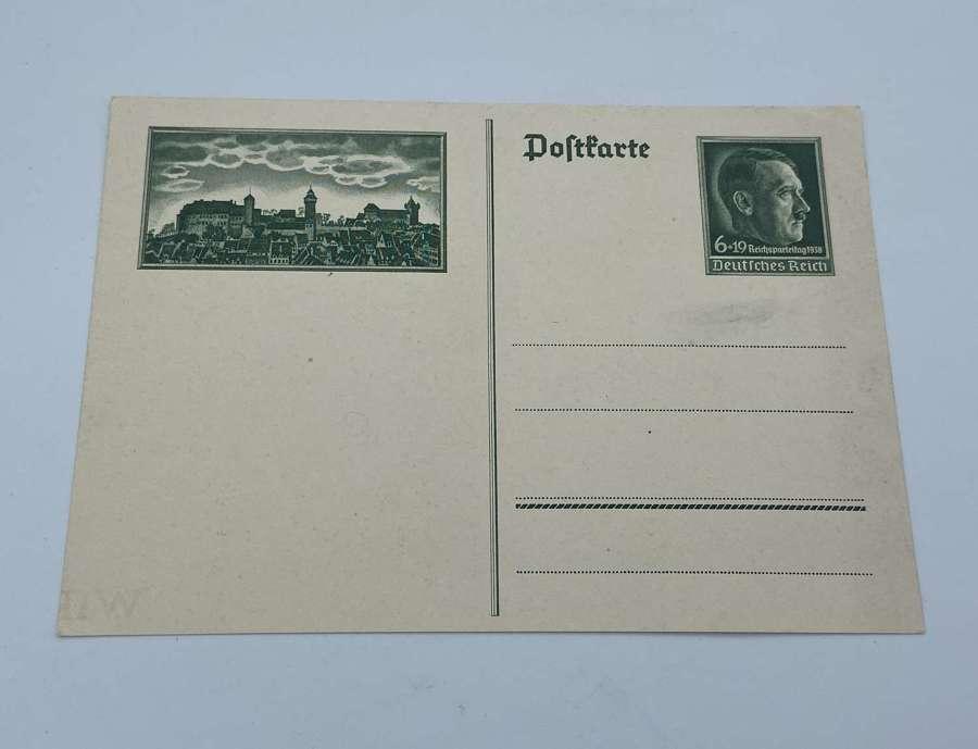 WW2 German Reichsparteitag 1938 Celebrations Postcard