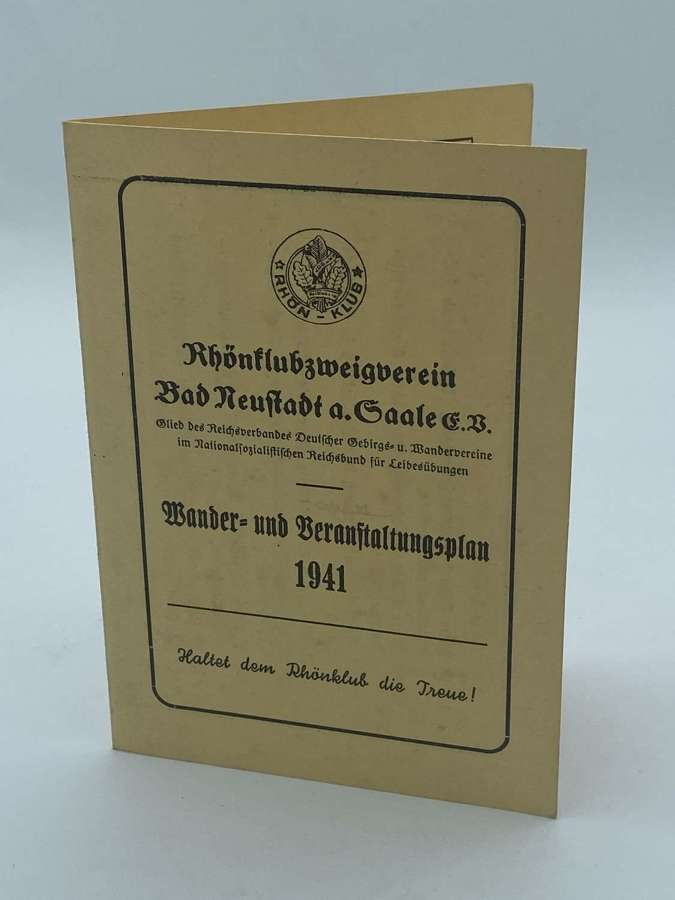 1941 Reich Association of German Mountain and Hiking Associations Card