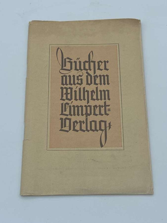 WW2 German Wilhelm Limpert Derlag Propaganda Advertising Booklet HJ
