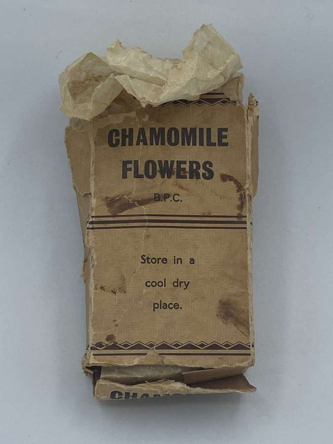 WW2 British Home Front Chamomile Flowers BPC 1/2 Oz Packet & Contents