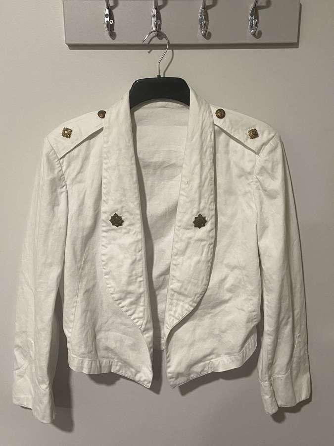 WW2 RASC BritishOfficer Mess Dress WhiteJacket&Insignia Named L.Ridley