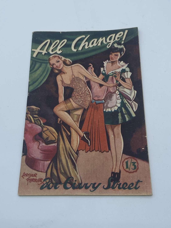 WW2 1945 All Change for Civvy Street Adult Humor, Jokes Cartoons Book