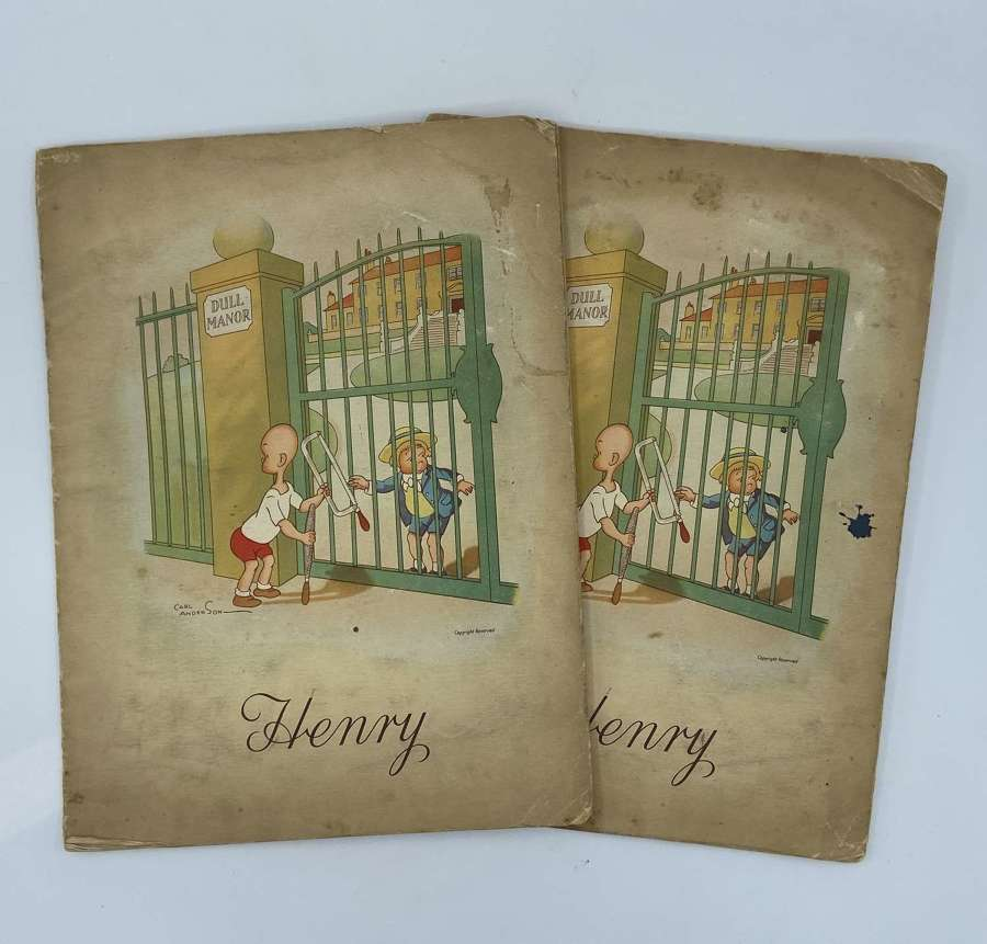 1930s Complete Henry Cigarette Card Albums By J. Wix and Sons/Kensitas