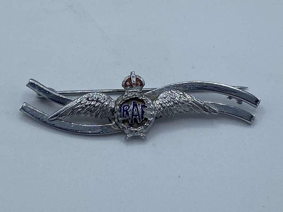WW2 RAF Royal Airforce Sweetheart Brooch Kings Crown