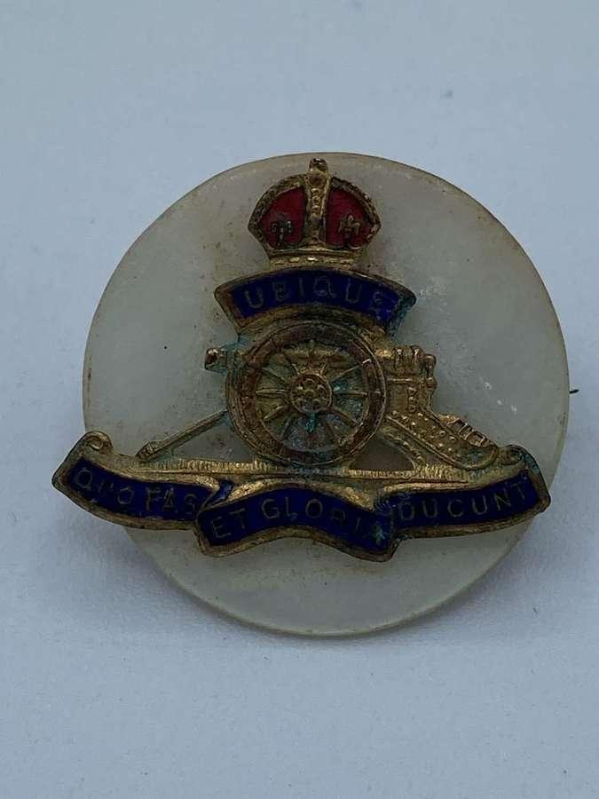 WW1 Regiment Sweetheart Badge Royal Artillery