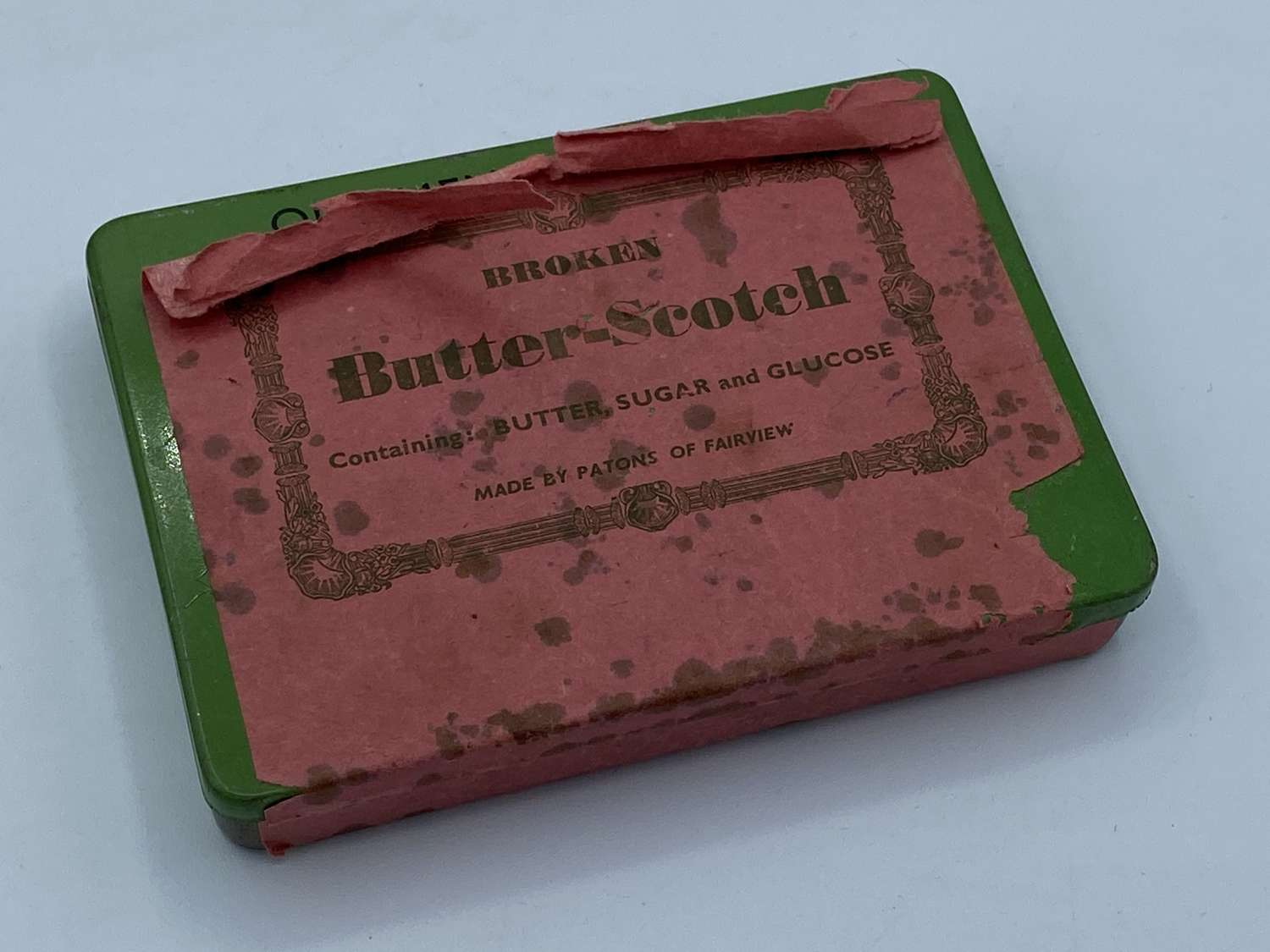 WW2 Home Front Ration Label Over Anti-Gas Ointment No6 Tin